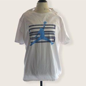 Jordan White Logo T-shirt Short Sleeve 2XL